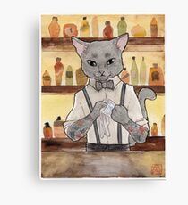 Bartender Cat Takeshi Canvas Print