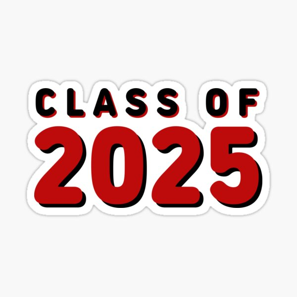 Class of 2025 Red/Black Sticker