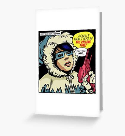 Post-Punk Ice Greeting Card