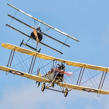 Fokker Dr1 v BE2c replica encounter by oscar533