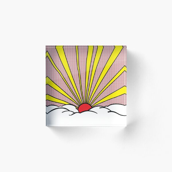 SUN RAYS Acrylic Block