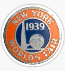 New York World's Fair 1939 Sticker