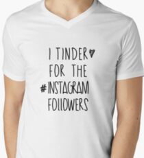 Tinder 4 Instagram Men's V-Neck T-Shirt