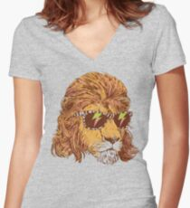 King Of The '80s Women's Fitted V-Neck T-Shirt
