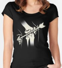 Arrow Into The Knee Women's Fitted Scoop T-Shirt