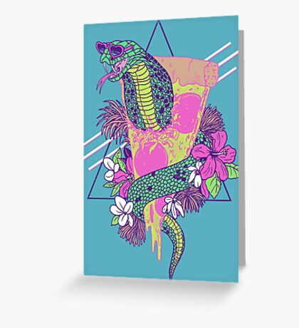 Snake Pizza Greeting Card
