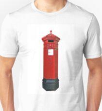 Big Red Victorian Mail Box, London, Royal Mail Unisex T-Shirt
