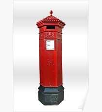 Big Red Victorian Mail Box, London, Royal Mail Poster
