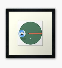 Sport equipment round icon Framed Print