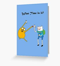 Pokemon go time with Finn & Jake Greeting Card