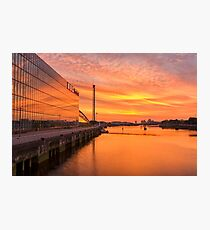 BBC Scotland after the sunset Photographic Print
