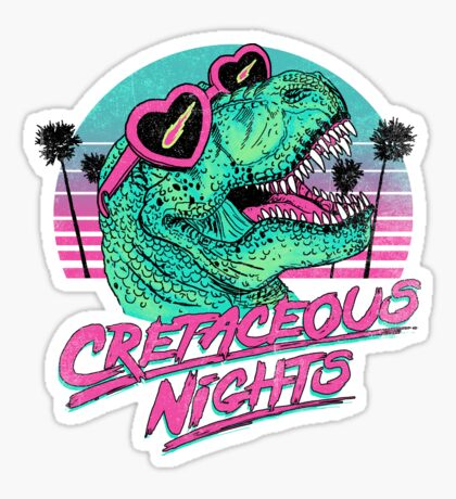 Cretaceous Nights Sticker