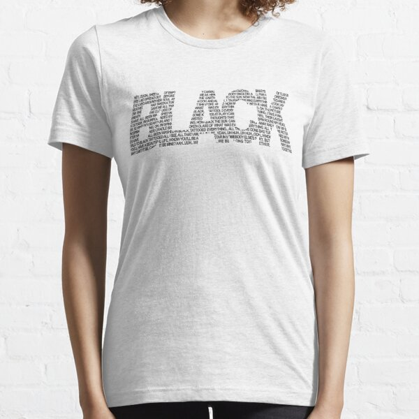 B L A C K Essential T-Shirt