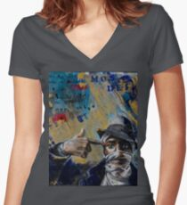 Mos Def Tribute Women's Fitted V-Neck T-Shirt
