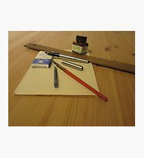 Pens And Paper Photographic Print