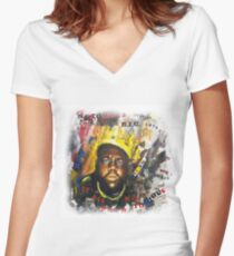 Biggie Tribute Women's Fitted V-Neck T-Shirt