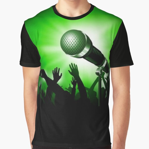 Mic and Crowd - Green Graphic T-Shirt