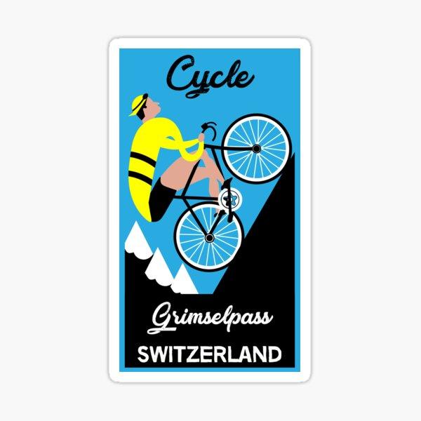 Grimselpass Switzerland Cycling | Extreme Cycling | Sport | Endurance Biking | Fitness Sticker
