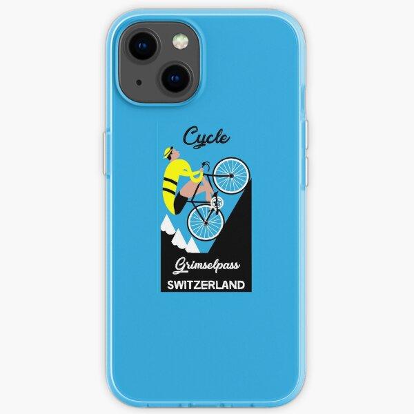 Grimselpass Switzerland Cycling   Extreme Cycling   Sport   Endurance Biking   Fitness iPhone Soft Case