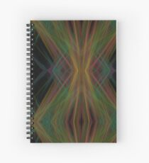 Abstract Triangles Black Green Blue Spiral Notebook