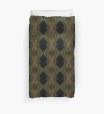 Abstract Triangles Black Green Blue Duvet Cover