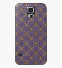 Asymmetrical Purple Yellow Repeating Pattern Case/Skin for Samsung Galaxy