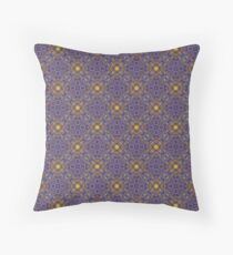 Asymmetrical Purple Yellow Repeating Pattern Throw Pillow