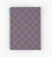 Asymmetrical Purple Yellow Repeating Pattern Spiral Notebook