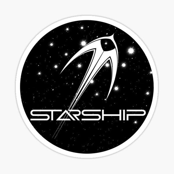 Starship logo Sticker