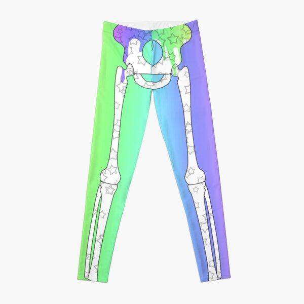 Pastel Rainbow Ribcage Alternate Leggings