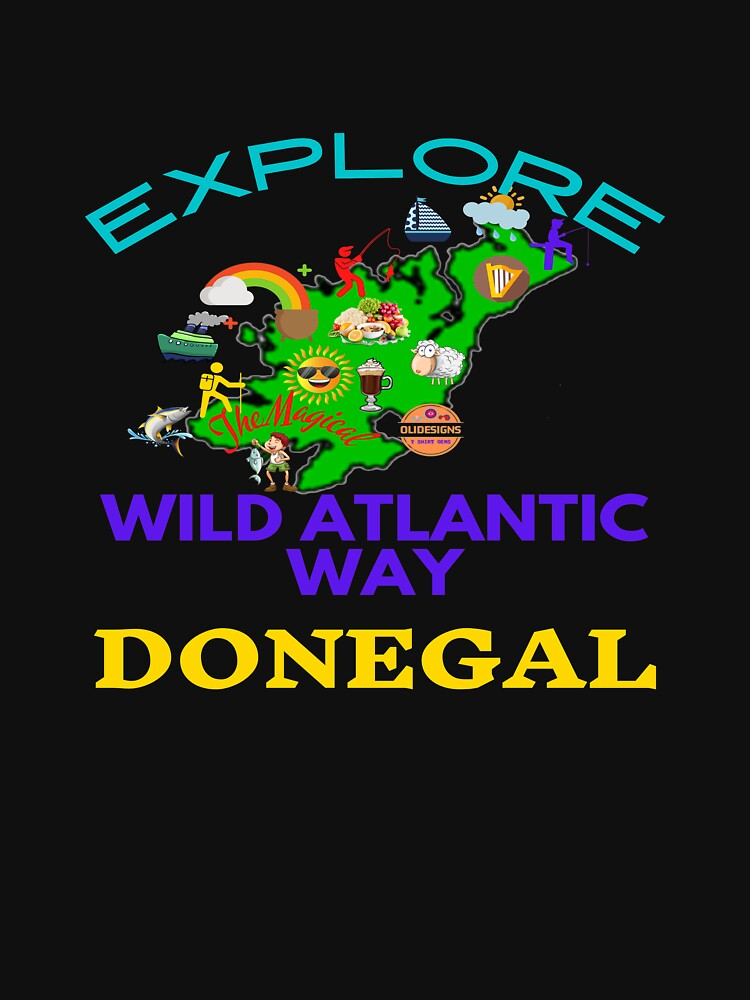 EXPLORE THE MAGICAL WILD ATLANTIC WAY DONEGAL by OliDesigns