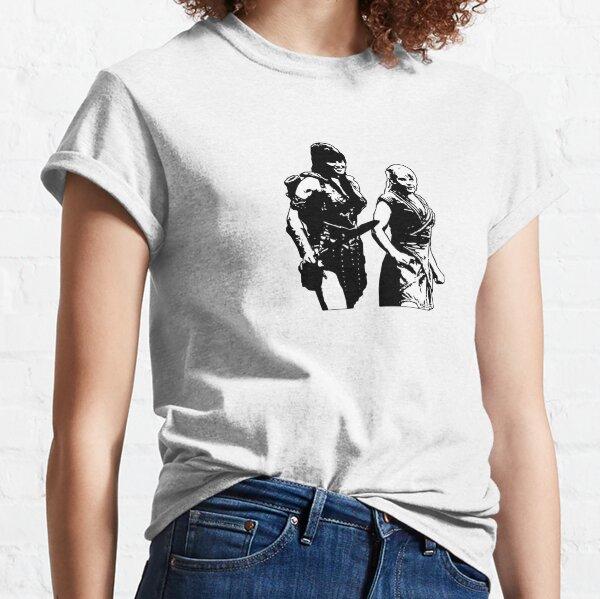 Xena Warrior Princess & Gabrielle Battling Bard Of Potidea Classic T-Shirt