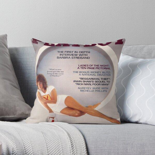 Vintage Playboy Barbara Streisand (1977) Throw Pillow
