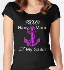 Navy Mom Women's Fitted Scoop T-Shirt