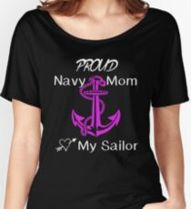 Navy Mom Women's Relaxed Fit T-Shirt