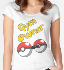 Pokemon Gym Owner Women's Fitted Scoop T-Shirt