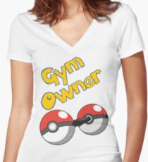 Pokemon Gym Owner Women's Fitted V-Neck T-Shirt