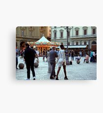 Passing Strangers, Florence Canvas Print