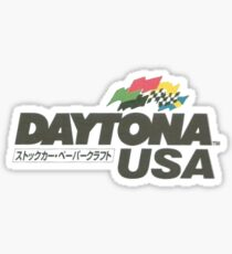 Daytona USA Retro Logo Sega Sticker