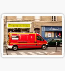 French Fire Truck Emergency Vehicle Sticker