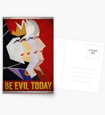 Be Evil Today Postcards