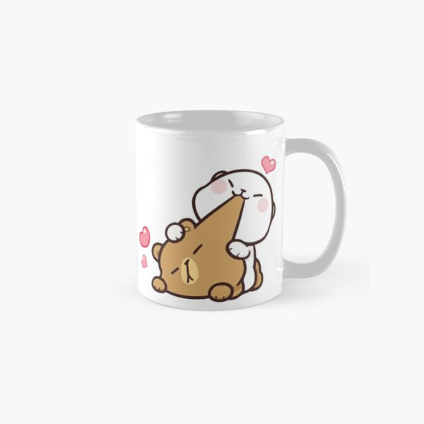 cute milk peach bears Classic Mug