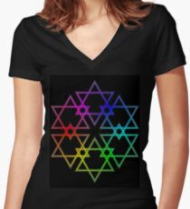 facets Women's Fitted V-Neck T-Shirt