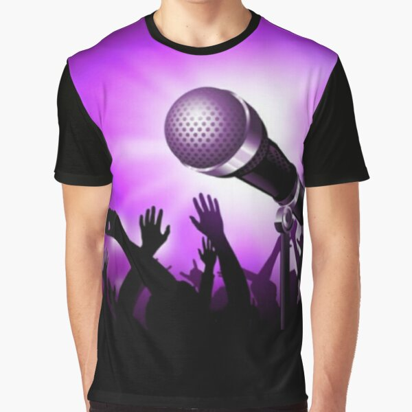 Mic and Crowd - Purple Graphic T-Shirt