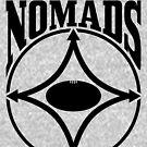 Nomads shield, full chest, black, borderless variation by nomads