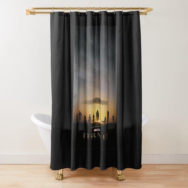 Marvel Eternals Group Sunset Poster  Shower Curtain
