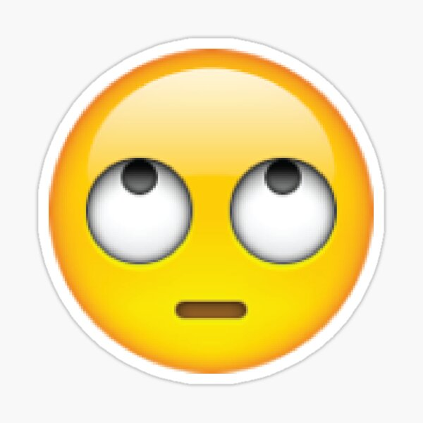 Eye Roll emoji Pegatina