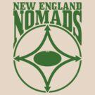 Nomads shield, full chest, green, borderless variation by nomads