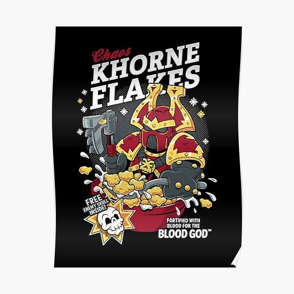 Chaos Khorne Flakes Poster