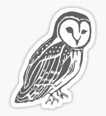 Grey and White Barn Owl Sticker